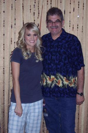 Tom with Carrie Underwood 2008 Save Mart Center Fresno