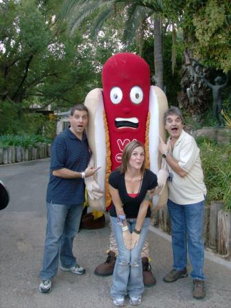 Garabo and Company, John, Tom, Erica and the wiener!  ZOO BOO 2008